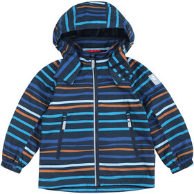 Reima Fasarby Reimatec Jacket Kids navy/orange stripes